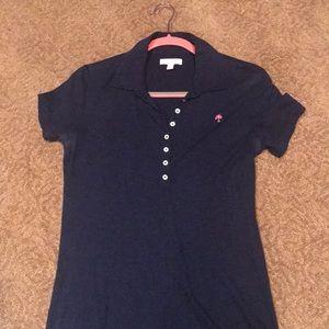Lilly Pulitzer Polo Shirt Navy. Size Medium.